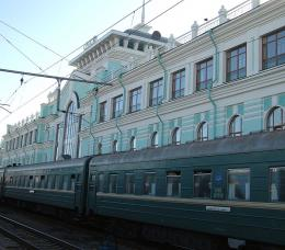 Major train station on the Transsiberian Railway, Russia