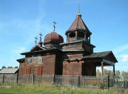 Wooden church in Taltsi open-air museum, Listvyanka, Russia